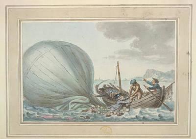Sig. Lunardi Rescued At Sea Art Print by British Library