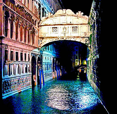 Digital Art - Sigh In Venice by Georgiana Romanovna