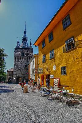 Photograph - Sighisoara -the Clock Tower by Andrei Fried