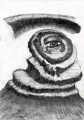 Surrealism Drawing - Sight Beyond Sight by Angela Pelfrey