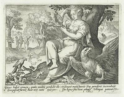 Sight Drawing - Sight, Nicolaes De Bruyn by Nicolaes De Bruyn
