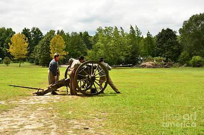 Sighting In Of A Civil War Canon Art Print