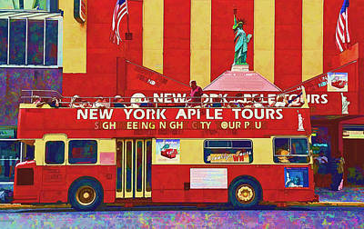 Photograph - Sightseeing Bus by Allen Beatty