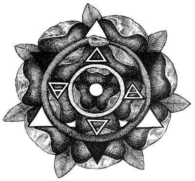 Drawing - Sigil Of The Societas Subrosa by Gregory Stewart