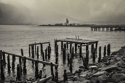 Photograph - Siglufjordur Old Pier Black And White by For Ninety One Days