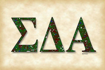 Latino Digital Art - Sigma Delta Alpha - Parchment by Stephen Younts