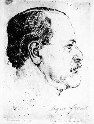 Sigmund Freud (1856-1939) Art Print by Granger