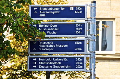 Bilingual Street Signs Photograph - Sign Berlin by Galexa Ch