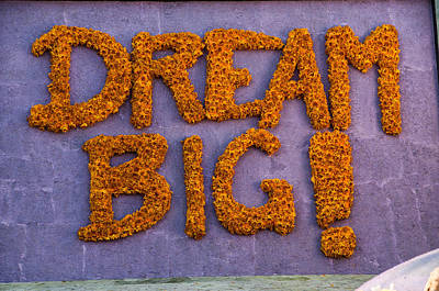 Photograph - Sign Dream Big by Connie Cooper-Edwards