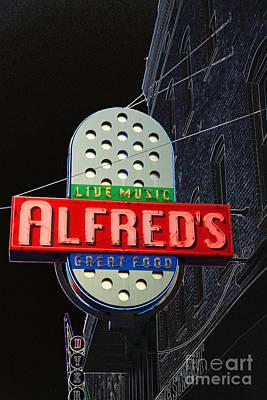 Digital Art - Sign For Alfreds On Beale Street Memphis by Liz Leyden