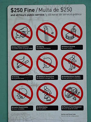 Photograph - Sign For Stupid People by Jeff Lowe