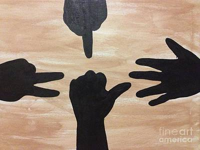 Painting - Sign Language by Damion Powell