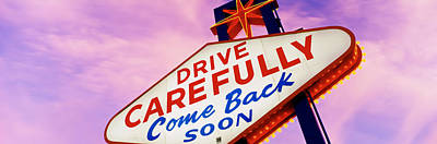 Depart Photograph - Sign, Las Vegas Nevada, Usa by Panoramic Images