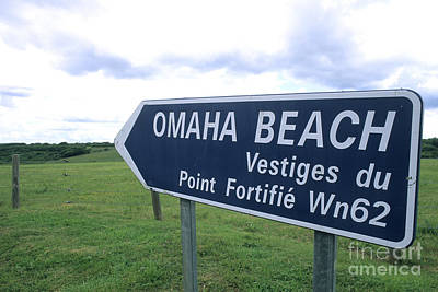 French Signs Photograph - Sign Near Omaha Beach, France by Bill Bachmann