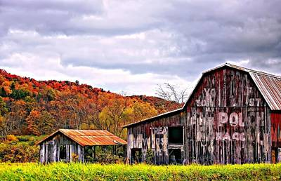 Barn Photograph - Sign Of The Times by Steve Harrington