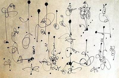Dots And Lines Drawing - Sign On The Dotted Line by Nancy Kane Chapman