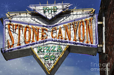 Photograph - Sign - Stone Canyon by Liane Wright