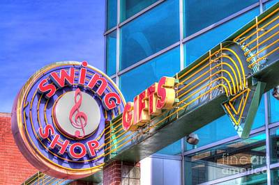 Photograph - Sign - Swing Shop - Jazz District by Liane Wright