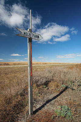 Sign To The Welk Farm, Strasburg Print by Panoramic Images