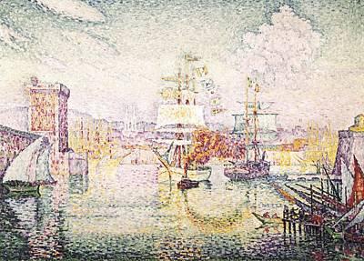 Pointillist Photograph - Signacpaul 1863-1935. Entrance by Everett
