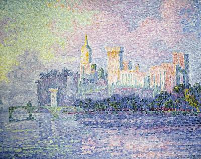 Signacpaul 1863-1935. The Chateau Des Art Print by Everett