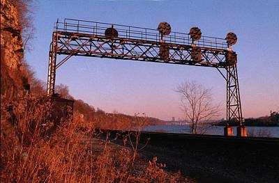 Signal Bridge Along Ohio River Near Pittsburgh Art Print by Eric Miller