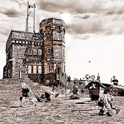 Youth Hockey Digital Art - Signal Hill Boot Hockey by Elizabeth Urlacher