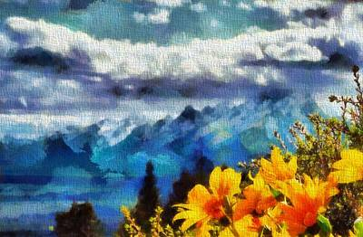 Mountain Mixed Media - Signal Mountain Summer by Dan Sproul
