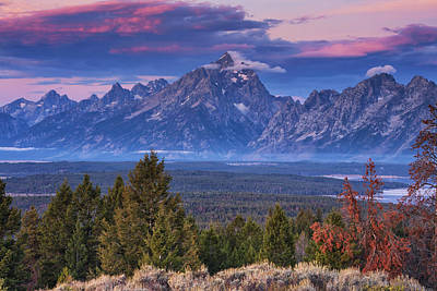 Teton Photograph - Signal Mountain Sunrise by Mark Kiver