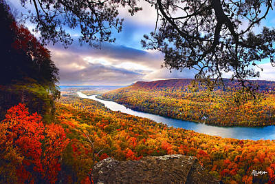 Photograph - Signal Point At Fall Cropped by Steven Llorca
