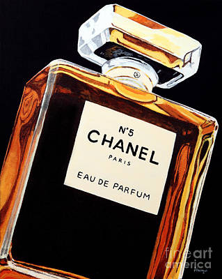 Chanel Wall Art - Painting - Signature Scent by Alacoque Doyle