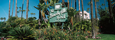 Beverly Hills Photograph - Signboard Of A Hotel, Beverly Hills by Panoramic Images