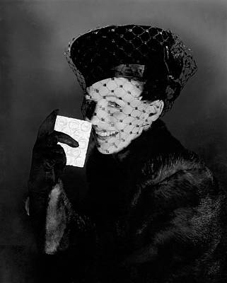 Signe Hasso Wearing A Veiled Hat Art Print