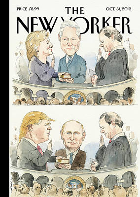 President Painting - Significant Others by Barry Blitt