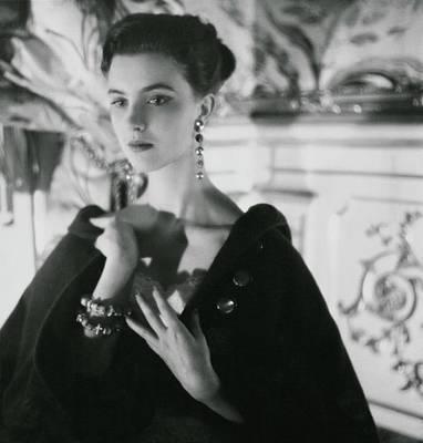Photograph - Signorina Illaria Occhini Wearing A Cape by Henry Clarke