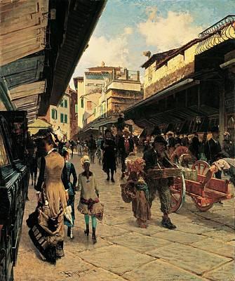 Signorini Telemaco, Ponte Vecchio Art Print