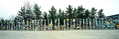Watson Lake Photograph - Signposts At The Roadside, Sign Post by Panoramic Images