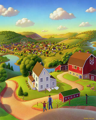 Small Town Painting - Signs And Wonders by Robin Moline