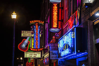 Signs Of Music Row Nashville Art Print by John McGraw