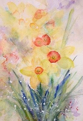Daffodils Painting - Signs Of Spring by Bette Orr