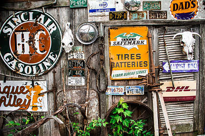 Collectors Corner Wall Art - Photograph - Signs Of The Collectors Corner by Steven Bateson