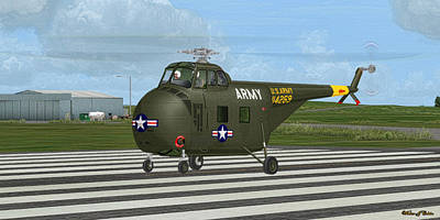 Digital Art - Sikorsky H-19 Chickasaw by Walter Colvin