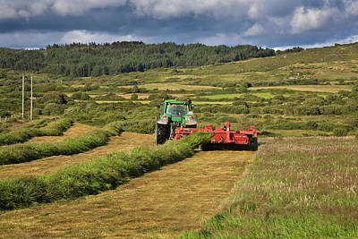Farmscapes Photograph - Silage Making,near Bantry,county Cork by Panoramic Images
