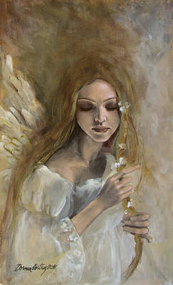 Wings Painting - Silence by Dorina  Costras