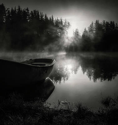 Rowboat Photograph - Silence by Genadi Dochev