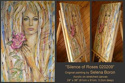 Art Print featuring the painting Silence Of Roses 020209 by Selena Boron