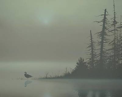 Waterfowl Painting - Silence by Peter Mathios