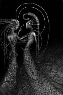 Biomechanic Drawing - Silence by Rodrigo Vieira