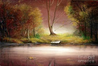 Art Print featuring the painting Silence by Sorin Apostolescu