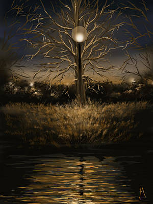 Reflections Digital Art - Silence by Veronica Minozzi